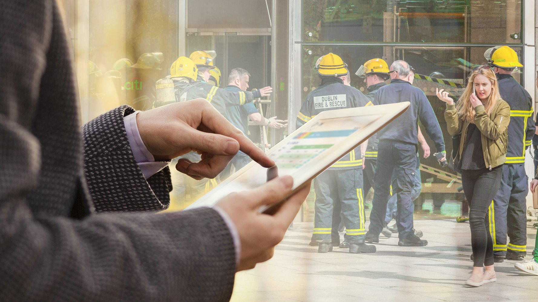 Emergency fire evacuation roll call tracking solutions from real time location
